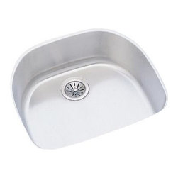 Elkay - Harmony Lustertone Undermount Sink - ELUH2118 - Choose Sink Package: Sink OnlyManufacturer SKU: ELUH211810. Material: Stainless SteelFaucet Holes: 0Thickness: 18 GaugeCode Compliance: IAPMOSound Deadening: Sound Guard®Number of Bowls: 1Minimum Cabinet Size: 27 in.Sink Dimensions: 23 9/16 in. L x 21 1/8 in. WPrimary Bowl Depth: 10 in.Bowl Dim.: 21 in. x 18 5/8 in. x 10 in.Drain Size: 3 1/2 in.