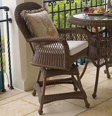 traditional outdoor stools and benches by FRONTGATE