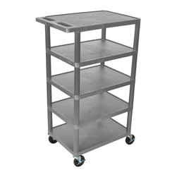 Luxor - Luxor Transport Cart - BC50-G - Luxor's BC's series are multi-tiered, lightweight carts made for every type of environment. It is constructed from high density polyethylene structural foam molded plastic shelves.