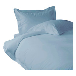 500 TC Duvet Cover with 1 Fitted Sheet Solid Sky Blue, Twin - You are buying 1 Duvet Cover with 1 Fitted Sheet only. A few simple upgrades in the bedroom can create the welcome effect of a new beginning-whether it's January 1st or a Sunday. Such a simple pleasure, really-fresh, clean sheets, fluffy pillows, and cozy comforters. You can feel like a five-star guest in your own home with Sapphire Linens. Fold back the covers, slip into sweet happy dreams, and wake up refreshed. It's a brand-new day.