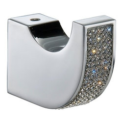 Robe Hook  with swarovski crystal. No drilling required, it is optional - Robe hook with swarovski elements. Model: 660800