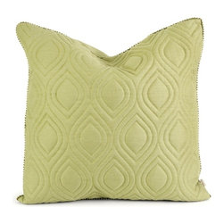IMAX CORPORATION - IK Kavita Green Linen Quilted Pillow w/ Down Fill - Iffat Khan has developed a luxurious collection of down pillows with quilted details and top of the line fabrics. Iffates refined aesthetic is evident in her collection which combines clean modern, classic casual and timeless traditional styles with her own creative twist. Find home furnishings, decor, and accessories from Posh Urban Furnishings. Beautiful, stylish furniture and decor that will brighten your home instantly. Shop modern, traditional, vintage, and world designs.