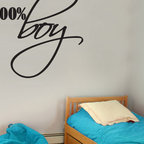 100% Boy Vinyl Wall Decal b002100boyvii8, Matte White, 72 in. - Vinyl Wall Quotes are an awesome way to bring a room to life!