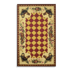Rooster Room Size Indoor/Outdoor Rugs - Red - Bed Bath & Beyond