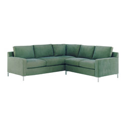 Lazar Industries - Soho Sectional:  Corner Sofa and 2-Seater Sleeper Sofa in Grassland Hawaii - Soho Sectional:  Corner Sofa and Adjacent 2-Seater Sleeper Sofa:  Lazar's most popular and customizable stlye, the Soho offers modern luxury in a compact package.