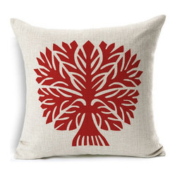 Inova Team -Contemporary Cushion Cover, Tree - Grab this cushion cover and accentuate your living room.