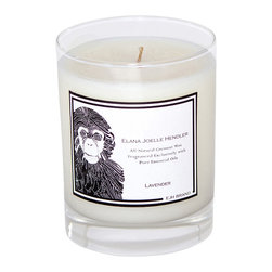 EJH Brand - Lavender Candle - The scent of fresh lavender is immediately calming, helping you set the mood for a relaxed evening at home. Fortunately, this all natural coconut wax candle is made with 100 percent pure essential oil and no toxic additives, so the air will really be as fresh and healing as it smells. Simply light the candle and your room will take on an aura of sanctuary.