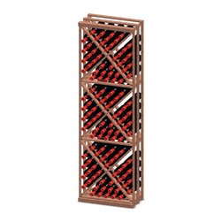 Vinotemp - X-Bin Wood Wine Rack - Floor standing. Made from premium redwood. Fits 132 bottles. 22.75 in. W x 12 in. D x 73.37 in. H (42 lbs.). Assembly required. Made in USA. Custom made: 8 to 10 weeks lead time. Easy to store all sizes of wine bottles. Hand made. Completely customizable. WarrantyThese racks are a great modular option to build your own wine room.
