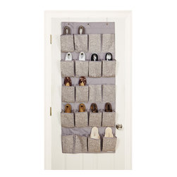 Laura Ashley - 20-pocket Fern Over the Door Shoe Organizer - Free up floor or closet space while keeping your shoes safe from dirt and dust with this decorative fern shoe organizer. Featuring twenty pockets, this shoe organizer is easy to hang over any door.