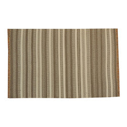 1800GetARug - Durie Kilim Flat Weave Hand Woven 100% Wool Soft Colors Rug Sh15708 - The Flat Weave hand woven rug is a type of area rug created by weaving wool onto a foundation of cotton warps on a loom. The Flat Weave rug offers the same beauty and durability as the classical thick-pile Oriental rugs, but without the telltale thick pile often spotted in other rugs. This gives the Flat weave a thin and flat appearance which resembles the Needlepoint, making them wonderfully ideal choices as accent rugs, wall hangings, or to drape over furniture and staircases.