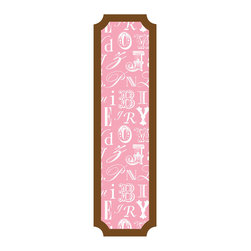 RoomMates - Pink and Brown Alphabet Peel and Stick Deco Panel - Trendy and decorative this pink and brown alphabet panel is a great addition to any room in your home. Removable and repositionable, the panel can be installed onto any smooth surface. Application is easy, slowly peel the panel from the liner and stick to the desired surface.�