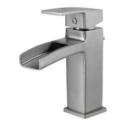 """Price Pfister - Pfister GT42-DF0K Kenzo One Handle Lavatory Faucet - Price Pfister GT42-DF0K is a Kenzo Series 4"""" centerset lavatory faucet. Includes metal pop-up, 10"""" flexible supply lines. Drain Assembly included"""