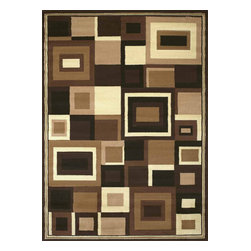 "United Weavers of America - United Weavers of America Urban Trends Geo Brown 7'10"" x 10'6"" Area Rugs - United Weavers of America Urban Trends Geo Brown 7'10"" x 10'6"" Area Rugs"