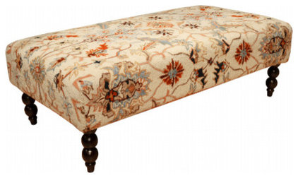 traditional ottomans and cubes Tapestry Ottoman