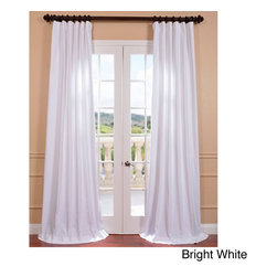 EFF - Bright Cotton Twill Curtain Panel - Incorporate clean,breezy style into your living area,bedroom,kitchen and more with this charming curtain panel,finished in solid white,this casual window panel is crafted with cotton and features a shade-enhancing lining.