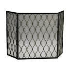 Cyan Design - Gold Mesh Fire Screen - Weight: 19.6lbs.