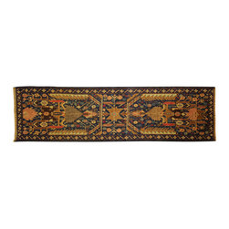 Manhattan Rugs - New Oriental Runner Baluch Hand Knotted Wool Blue Egyptian Design Area Rug P234 - They have a very distinctive type of rugs recognizable at a glance. Anyone remotely familiar with oriental rugs could hardly mistake a typical example