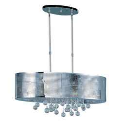 ET2 - ET2 E24389-91 Illusion Single-Tier Chandelier - Product Features: