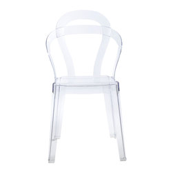 Eurostyle - Titi Chair (Set of 4) - Transparent - Recyclable Polycarbonate