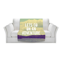 DiaNoche Designs - Throw Blanket Fleece - Lets Go On an Adventure - Original Artwork printed to an ultra soft fleece Blanket for a unique look and feel of your living room couch or bedroom space.  DiaNoche Designs uses images from artists all over the world to create Illuminated art, Canvas Art, Sheets, Pillows, Duvets, Blankets and many other items that you can print to.  Every purchase supports an artist!