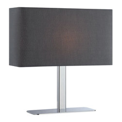Lite Source - Lite Source LS-21797C/BLK Levon 1 Light Table Lamps in Chrome - Table Lamp, Chrome/Black Fabric Shade, E12 Type G 40W