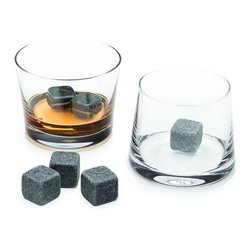 Teroforma - Whisky Lover Set by Teroforma - When a great meal with friends extends into the wee hours, the Teroforma Whisky Lover Set makes conversation and drinks by the fire even more pleasurable. The set includes two Clear mouth-blown crystal Avva tumblers and six natural Whisky Stones. Or enhance the smoky moodiness of a single malt with Charcoal Grey glass tumblers and polished black Whisky Stones. Based in Norwalk, Conneticut, Teroforma was founded in 2006 by Andrew & Anna Hillman to make the dining table a fun, friendly and fashionable meeting place. Renowned especially for their Whisky Stones, Teroforma also creates a wide range of modern kitchen tools, decorative porcelain, dinnerware, linens and so forth to make gatherings around the table memorable ones.