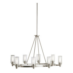 "Kichler - Kichler 2345NI Circolo Single-Tier Chandelier w/8 Lights - Stem - 25"" Wide - Kichler 2345 Circolo Chandelier"