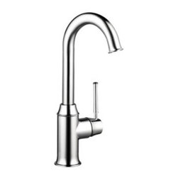 Hansgrohe - Hansgrohe - Talis C Bar Kitchen Faucet - 04217000 - Chrome - In homes today, theres a place undergoing a radical transformation of uncompromising style-- the kitchen. This is the second most occupied place in modern dwellings. Hangrohes Talis C bar faucet offers remarkable functionality with individual personality and style. Innovative features such as the M2 velvety smooth ceramic cartridge valve.  The modern design of the Talis C bar faucet coordinates flawlessly with any kitchen dcor. The Talis Cs solid brass construction is finished with a smooth chrome Finish