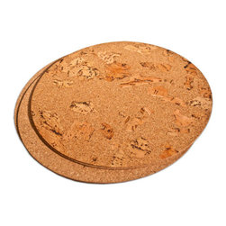 The Felt Store - Marble Cork Placemats, Round, Set of 4 - The Felt Store's Marble Cork Placemat - Round adds an eco-friendly twist to your table! This product is truly versatile as it is reversible to display either the contemporary fine grain cork or turn it over for the exotic look of marble cork! This Cork Placemat is round in shape with a diameter of 15 inches and 0.10 inches thick approximately. These Cork Placemats will bring natural and unique beauty to your table! This package contains 4 cork table mats. This product can be wiped clean with a damp cloth.