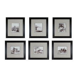 """Sterling Industries - Sterling Industries 10016-S6 21.5"""" Height Etchings Wall Art - Specifications:"""