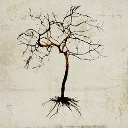 Garden #3919 (Original) by Sia - The tree invites us to slip into a space of calm