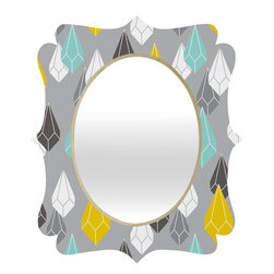 DENY Designs - Heather Dutton Raining Gems Whisper Quatrefoil Mirror - Mirror, mirror on the wall. Who's the fairest one of all? We'll that's easy, the quatrefoil mirror collection, of course! With a sleek mix of baltic birch ply trim that's unique to each piece and a glossy aluminum frame, the rectangular mirror makes you feel oh so pretty every time you catch a glimpse. Custom made in the USA for every order.