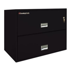SentrySafe L3600 Insulated 2 Drawer Lateral Filing Cabinet - 36 Inch - The SentrySafe L3600 Insulated 2 Drawer Lateral Filing Cabinet - 36 Inch has been rated and verified by third party industry testing services proving its incredible reliability in protecting its contents against loss from fire and explosion. Saying it's tough is an understatement and its lateral footprint design makes it ideal for meeting high volume filing needs. This sleek cabinet is constructed from heavy-duty metal that's been thoroughly insulated against dust and debris and provides phenomenal fire protection. UL Classified explosion hazard resistance and fire endurance for up to one hour of 1700-degree temperatures make this a formidable chest that you can always depend on to keep your business records and valuables safe. Of course, it isn't always the elements that pose a threat to your treasured keepsakes and important documents. To provide maximum security, a plunger key lock has been included to secure both drawers. A drawer-specific lock/unlock function is also featured so you can isolate access to certain drawers while keeping others tightly sealed. Each of these drawers opens with easy-to-use recessed handles with label holders and accommodates letter and legal size hanging file folders. The overall dimensions of this unit are 35.8W x 20.5D x 27.6H inches. Available in your choice of black, gray, light gray, sand, tan, and putty finish.Shipping OptionsDock-to-Dock Freight ServiceNo additional charge. Dock-to-dock includes commercial freight delivered to a commercial loading dock. Recipient is responsible for unloading product, final placement, unpack, and debris removal. Not available for residential deliveries.Curbside DeliveryDelivery personnel will present goods to ground level at rear of delivery vehicle. Recipient is responsible for final movement of goods, unpack, and debris removal. Curbside delivery will not bring the item up to a residence.Threshold ServiceDelivery personnel will remove goods from truck and place goods inside first exterior doorway, garage, or carport. Service includes up to four steps exterior to the first doorway. Customer is responsible for final product placement, unpack, and debris removal. Inside Delivery ServiceDelivery personnel will remove goods from truck, place goods in your room of choice, and complete unpack and debris removal. Includes lift gate service and stair carry of 0-4 internal and external steps. Does not include site preparation or protection.About SentrySafeFor over three generations, family-owned SentrySafe has been with you, protecting your valuables, providing you peace of mind. SentrySafe uses rigorous testing standards to ensure your items are protected from fire, water, and theft. They offer safes in a wide range of sizes and types, and continue to innovate protection technology. They are proud to make all of their products right here in the United States. SentrySafe is a name you can trust for all your irreplaceable items.
