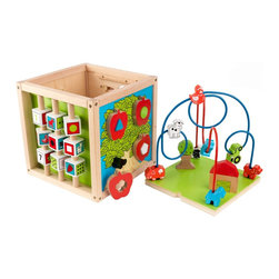 KidKraft - Bead Maze Cube, Adorable Farm Theme by Kidkraft - So many choices! Our Bead Maze Cube gives the young boys and girls in your life 5 sides of fun to choose from. Each side gives young kids a different activity that will help with the development of color recognition, shape recognition, and eye-hand coordination.