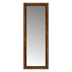 """Posters 2 Prints, LLC - 16"""" x 41"""" Belmont Light Brown Custom Framed Mirror - 16"""" x 41"""" Custom Framed Mirror made by Posters 2 Prints. Standard glass with unrivaled selection of crafted mirror frames.  Protected with category II safety backing to keep glass fragments together should the mirror be accidentally broken.  Safe arrival guaranteed.  Made in the United States of America"""