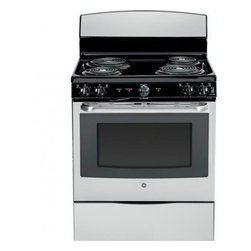 "GE - JB450RFSS 30"" 5.0 cu. ft. Oven Capacity Free-Standing Electric Range  Upfront Co - A GE electric range will meet all your cooking needs for years to come from warming a simple pan of soup for one person to handling a large dinner party or holiday meal for the whole family Plus your stove will look great in your kitchen and clean up..."