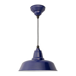 "Cocoweb - 10"" Goodyear Ceiling Barn Light, Cobalt Blue, 10 - BODY SHAPE"