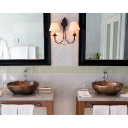 Black gold bathroom mirror set - The frame's profile is high in the back and gently sloops to the front stair step lip. The finish is a flat black with copper lines.