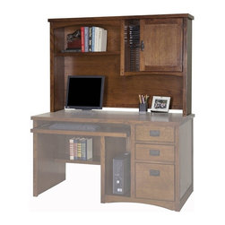 Kathy Ireland Home by Martin - Mission Pasadena Office Organizer hutch - MP542 - Dimensions