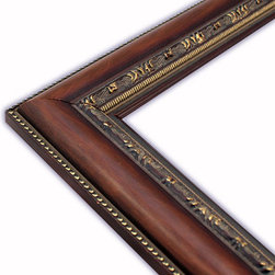 The Frame Guys - Slope Brown with Ornate Edge Picture Frame-Solid Wood, 12x16 - *Slope Brown with Ornate Edge Picture Frame-Solid Wood, 12x16