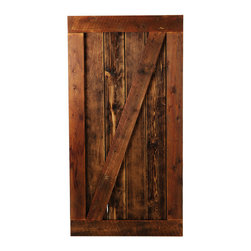 Big Sky Barn Doors - Bear Tooth Door, Finished, 50x85 - The Bear Tooth Door is our traditional Z Braze style door handcrafted from reclaimed Montana barnwood. Each Big Sky Barn Door is shipped completely assembled and ready to hang.     Due to the nature of antiqued reclaimed lumber, each door is unique in character and appearance.  Colors might vary slightly as well as wood grains, knots, nail holes, etc... Every door is handcrafted and inspected for quality assurance.    Hardware is not included.