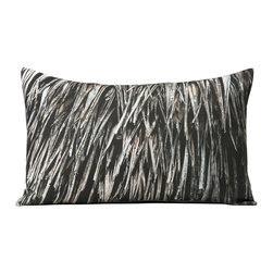 """Kuchi Kuu - Le Jeune Woodland Collection Artisan Pillow, 18"""" x 27"""" - Eco-friendly, artisan pillow covers are created from photographic images found in nature that are applied to organic cotton twill using water-based inks.  Pillow inserts are a 10/90 combination of down and feathers.  The pillow covers can be hand washed in cold water or dry cleaned."""