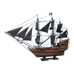 "Handcrafted Nautical Decor - Captain Kidd's Adventure Galley Limited 24"" - Black Sails - Sold Fully Assembled Ready for Immediate Display -Not a Model Ship Kit"