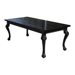 Hearst Dining Table in Black Reclaimed Dining Wood