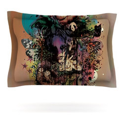 """Kess InHouse - Mat Miller """"Doom and Bloom"""" Dark Rose Pillow Sham (Cotton, 30"""" x 20"""") - Pairing your already chic duvet cover with playful pillow shams is the perfect way to tie your bedroom together. There are endless possibilities to feed your artistic palette with these imaginative pillow shams. It will looks so elegant you won't want ruin the masterpiece you have created when you go to bed. Not only are these pillow shams nice to look at they are also made from a high quality cotton blend. They are so soft that they will elevate your sleep up to level that is beyond Cloud 9. We always print our goods with the highest quality printing process in order to maintain the integrity of the art that you are adeptly displaying. This means that you won't have to worry about your art fading or your sham loosing it's freshness."""