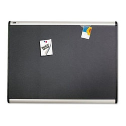Quartet 36 x 24 in. Prestige Plus Magnetic Bulletin Board - Add a sophisticated touch to your professional space, by using the Quartet 36 x 24 in. Prestige Plus Magnetic Bulletin Board. It comes with a long-lasting aluminum frame. Its high-density fiberboard makes it sturdy and non-fading. The office accessory allows you to safely attach your documents and photos by using pins or magnets. A well-designed mounting system provides ease of installation. This magnetic board can be hung vertically or horizontally to suit your need.About United StationersDedicated to making life in the office more organized, efficient, and easier, United Stationers offers a wide variety of storage and organizational solutions for any business setting. With premium products specifically designed with the modern office in mind, we're certain you will find the solution you are looking for.From rolling file carts to stationary wall files, every product in the United Stations line is designed with one simple goal: to improve office efficiency. In turn, you will find increased productivity, happier, more organized employees, and an office setting that simply runs better, with the ultimate goal of increasing bottom line profits.