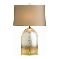 Arteriors - Eisler Lamp - Number one with a bullet, this lamp will add excitement to your favorite setting. The secret to its unique artesian finish is brown and amber crystals blown into the glass, followed by a coat of silvery mirror material.