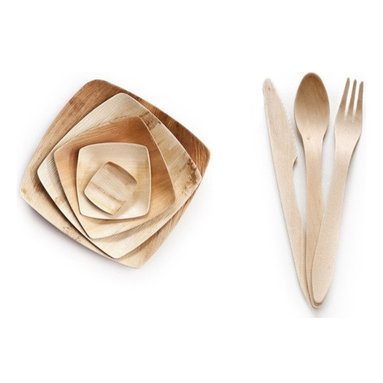 Leafware - Leafware Sample Kit - Curious about Leafware biodegradable and compostable Dinnerware and silverware? The Leafware Sample Kit is the perfect introduction to this  of paper plate alternatives and plastic silverware replacements.