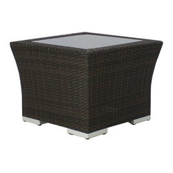 Source Outdoor Furniture - Source Outdoor Furniture Como Lago 24 Square End Table - Since 2009 Source Outdoor has been committed to offering customers the finest in contemporary seating dining and lounging furniture for residential commercial and hospitality spaces. Source Outdoor Furniture company has rapidly expanded as they worked with retailers interior designers individual buyers and owners or operators of restaurants and hotels to design and build pieces tailored to fit any outdoor patio space. Source Outdoor are committed to anticipating voids trends and opportunities in the marketplace as they believe creativity and quality are the cornerstones of our success. In fact over half Source Outdoor Furniture products are currently manufactured in Miami by in-house skilled seamstresses and craftsmen. Not only are these products proudly made in America but Source Outdoor also have an advantage with increased year-round inventory and faster turnaround.