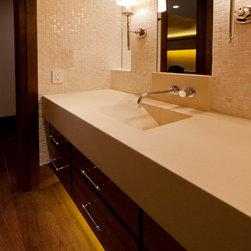 sonma cast stone - Contemporary Bathroom Countertops -